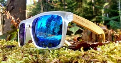 Upcycling Sonnenbrillen mit Holzbügeln