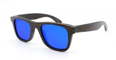 "KALEA SLIM ""Blue"" Bamboo Sunglasses"
