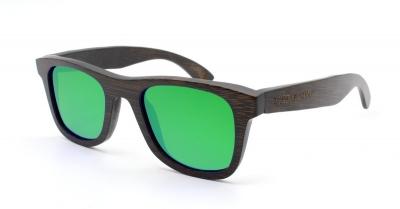 "KALEA SLIM ""Green"" Bamboo Sunglasses"