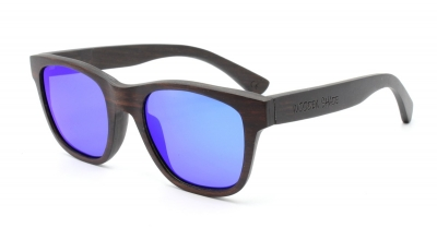 "ANELA (Ebony wood) Sunglasses""Blue"""