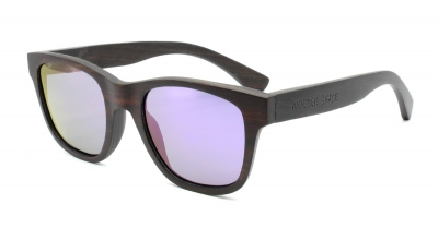 "ANELA (Ebony wood) Sunglasses ""Purple"""
