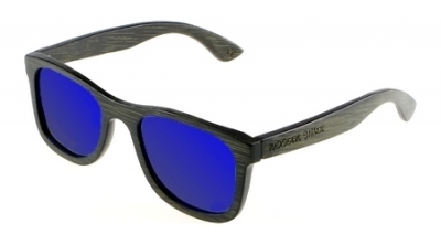 "KALEA (BLACK EDITION) ""Blue"" - Bamboo Sunglasses"