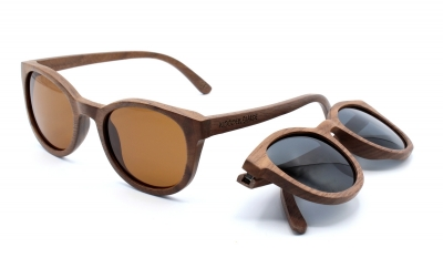 "KEOLA (Walnut wood) Sunglasses ""Brown"""