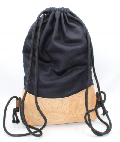 "Cork backpack | Sports bag ""Navy Blue"" (Stoffalex special edition)"
