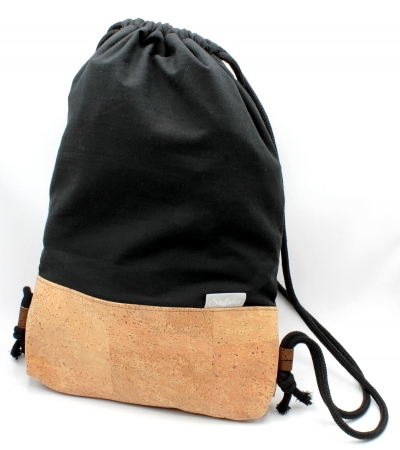 "Cork backpack | Sports bag ""Black"" (Stoffalex special edition)"
