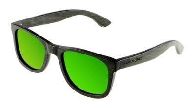 "LIKO (BLACK EDITION) ""Green"" - Bamboo Sunglasses"