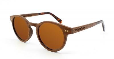 "MAYA Walnut Wood Sunglasses ""'Brown"""