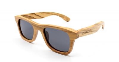 """KALEA SLIM """"Black"""" Olive Wood Sunglasses"""