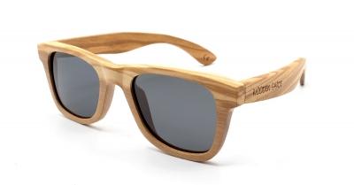 "LIKO (SLIM) Olivenholz Sonnenbrille ""Schwarz"""