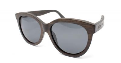 """PALIA (Dunkles Birkenholz) Sonnenbrille """"Schwarz"""""""