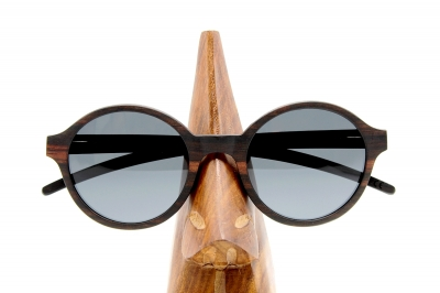 "SARITA Wood Sunglasses ""Black"""