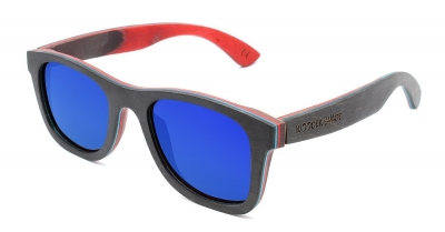 "KALEA Skateboard Wood Sunglasses #1 ""Blue"""