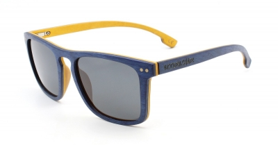 "WOODBROOK Skateboard Holz Sonnenbrille ""Blue Yellow Edition"""