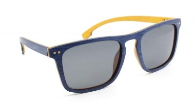 "WOODBROOK Skateboard Holz Sonnenbrille ""Gelb / Blau"""