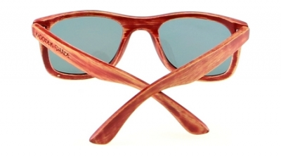 "KALEA (PUALI Edition) ""Red"" - Bamboo Sunglasses"