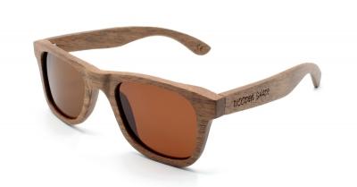 "LIKO (SLIM) Walnut Wood Sunglasses ""Brown"""