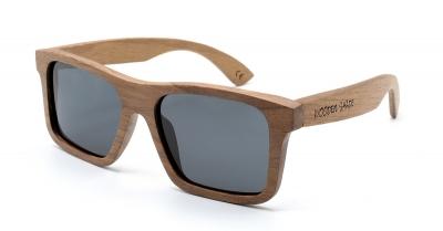 "LONO ""Black"" - Walnut Wood Sunglasses"