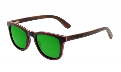"AMITA ""Green"" Skateboard Wood Sunglasses"