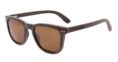 """AMITA V2 """"Braun"""" Skateboard Holz Sonnenbrille"""