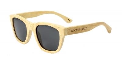 "ANELA (Natural) Bamboo Sunglasses ""Black"""