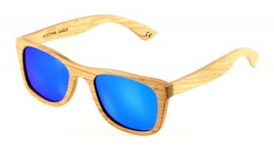 "KALEA (Kalama Edition) ""Blau"" - Zebrano Holz Sonnenbrille"