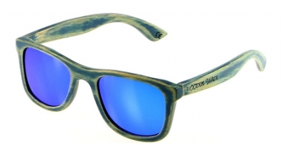 "KALEA (SAMOA Edition) ""Blue"" - Bamboo Sunglasses"