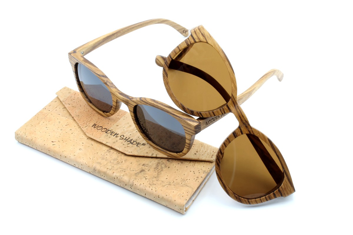 KEOLA (Zebrano Holz) Sonnenbrille
