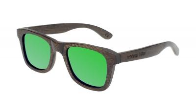 "LIKO (SLIM) ""Green"" Bamboo Sunglasses"