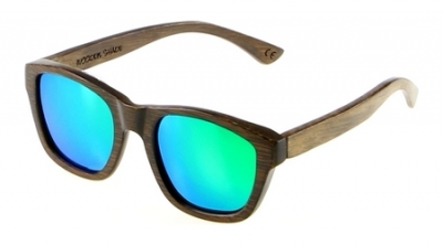 "ANELA Bamboo Sunglasses ""Green"""