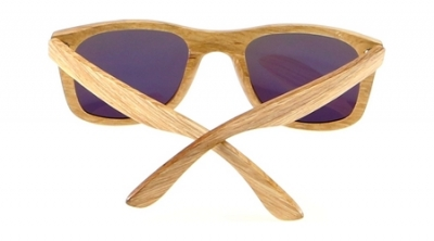 "KALEA (Kalama Edition) ""Orange"" - Zebra Wood Sunglasses"