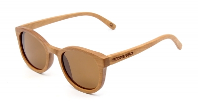 "KEOLA (Cherry Wood) Sunglasses ""Brown"""