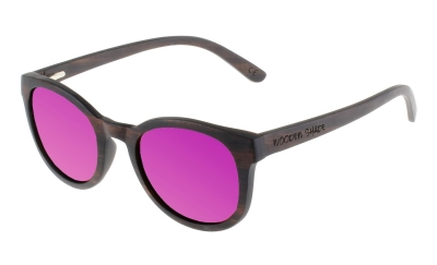 "KEOLA (Ebony wood) Sunglasses ""Purple"""