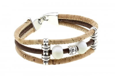 "Kork Armband #1 ""Weiß"""