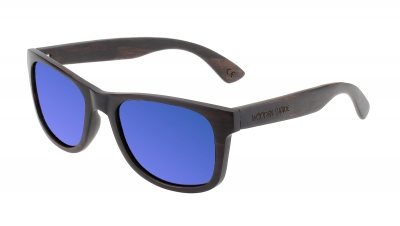 "LIKO Ebony Wood Sunglasses ""Blue"""