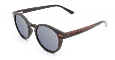 "MAYA Ebony Wood Sunglasses ""Silver"""
