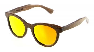 "SIVA Bambus Sonnenbrille ""Orange"""