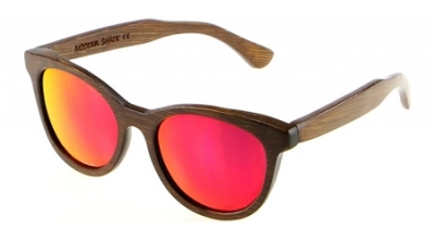 """SIVA Bambus Sonnenbrille """"Red"""""""