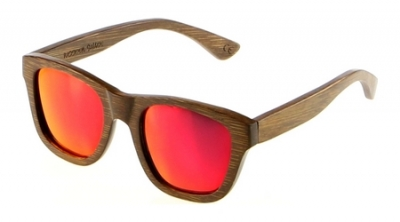 "ANELA Bamboo Sunglasses ""Red"""