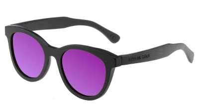 "SIVA Bambus Sonnenbrille ""Black Edition"" Purple"