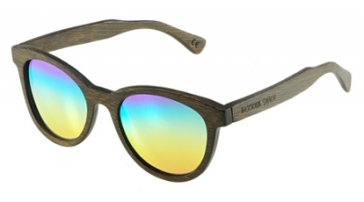"SIVA Bamboo Sunglasses ""Rainbow"""
