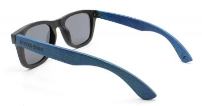 """LIKO (Schwarz / Blau) Bambus Sonnenbrille """"Schwarz"""""""