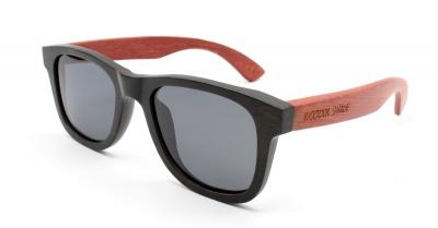 "LIKO (Black / Red) Bamboo Sunglasses ""Black"""