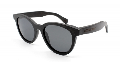 "SIVA ""Black Edition"" Black Bamboo Sunglasses"