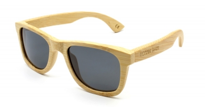"LIKO Natural ""Black"" - Bamboo Sunglasses"