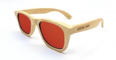 """LIKO (Natural) Bambus Sonnenbrille """"Rot"""""""