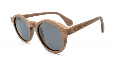 "CARIBA (Walnut wood) Sunglasses ""Black"""