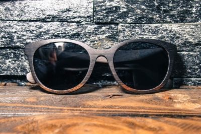 "SIVA Ebony Wood Sunglasses ""Black"""