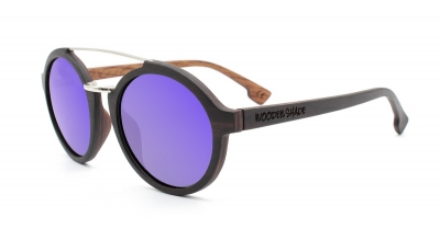 "JARA (Ebonywood) Sunglasses ""Purple"""