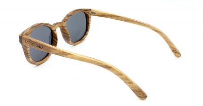 "KEOLA (Big Zebra Wood) Sunglasses ""Brown"""