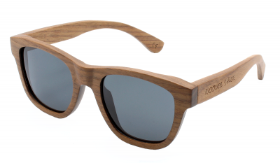 "ANELA (Walnut Wood) Sunglasses ""Black"""